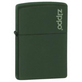 Zippo vert mat logo