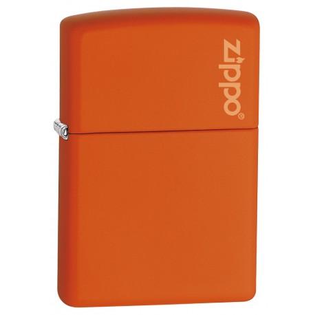 Zippo orange mat - Avec logo Zippo sur capuchon