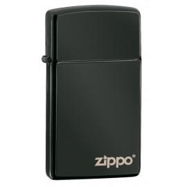 Zippo Slim Ebony avec Logo Zippo