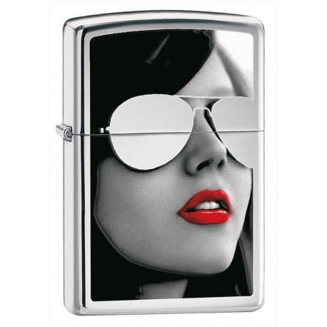 Zippo Girl with Sunglasses