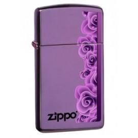 Zippo Purple Roses