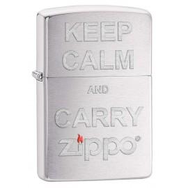 Keep Calm Carry Zippo