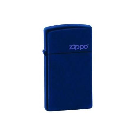 Zippo Slim Bleu mat
