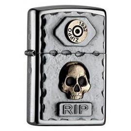 Zippo Skull RIP
