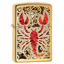 Zippo Fusion Scorpion Rouge