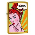 Zippo Pop Art Femme aux cheveux rouges