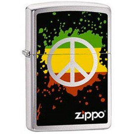 Zippo Peace and Love Reggae