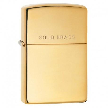 Zippo High Polish Brass gravé