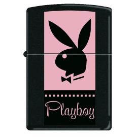 Zippo PlayBoy - Lapin Noir Sur Fond Rose